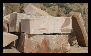 Architectural Pink Stone Quarries Mines Blocks
