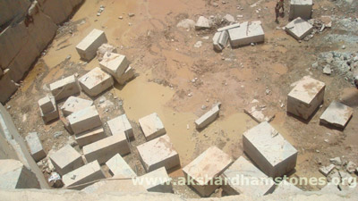 Indian Rainforest Gold Brown Marble Quarries Mines Blocks