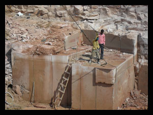Indian Pink, Beige Stone Quarry, Mines